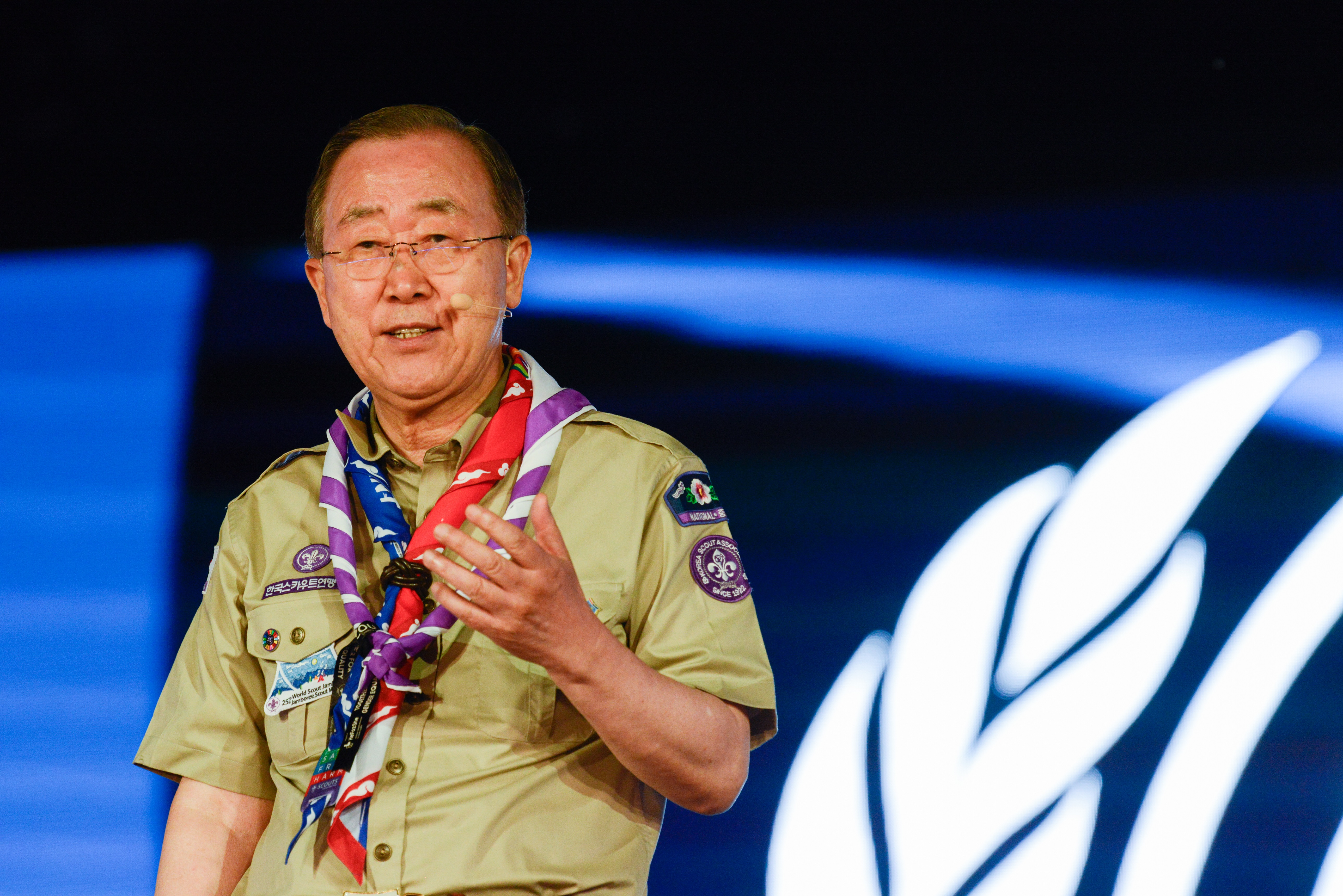 Ahmad Alhendawi opening address of ban ki-moon at the 24th world scout
