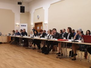 Youth delegates from all over the world discuss peace and