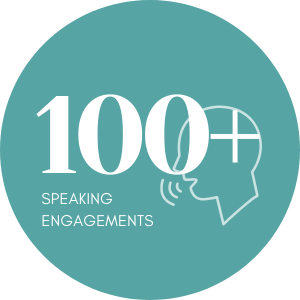 100+ Speaking Engagements